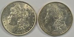 Lovely 1886-P & 1887-P Morgan Silver Dollars. Flashy