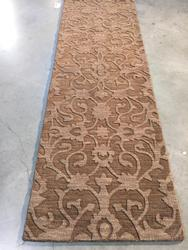 Contemporary Design Hand Made & Carved  Wool 8FT Runner