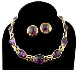 Extremely Rare Antique Gold Amethyst Necklace