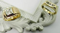 Pair of Men's Diamond Rings
