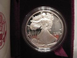 1991 Proof Silver  Eagle with box and papers