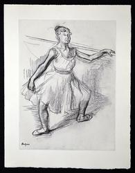 Beautiful Edgar Degas Etching Circa 1936