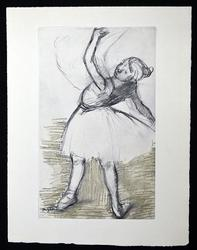Edgar Degas Etching Circa 1936 from Danse Dessin