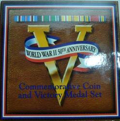 1991-1995 WW II 50th Anniversary Half Dollar and Medal