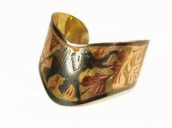 Fantastic Ethnic detailed Handcraft Art Cuff Bracelet