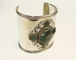 Charming Ethnic Handmade Silver Tone Bracelet