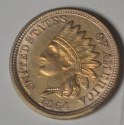 Choice Gem BU 1864 CN Indian Cent