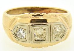 Gent's Vintage 3 Stone Diamond Ring