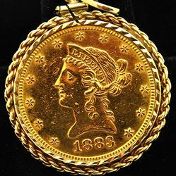 1885 $10 Liberty Gold Coin, 22kt Gold