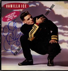 Vanilla Ice Autographed Signed Funky Music Album Cover