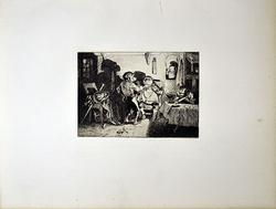 Rare Antique Etching by Decamps Circa 1897