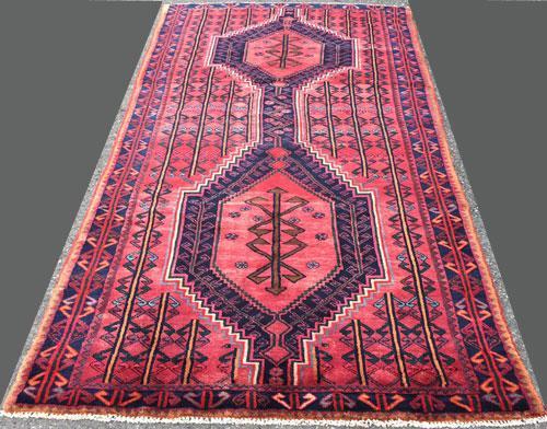 Charming 1950s Authentic Armenian Weave Vintage Persian Lankoran