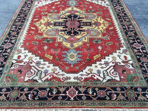 Simply Fabulous 1960s Authentic Handmade Vintage Heriz-Serapi Carpet