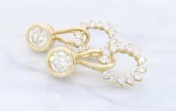 High Quality Fancy Diamond Earrings