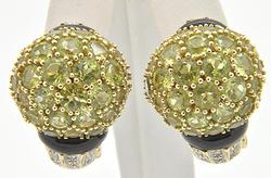 Peridot & Diamond Earrings & Ring Set, 14K