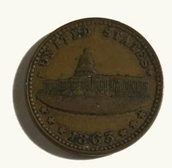 1863 Civil War Token The Capitol /Army & Navy