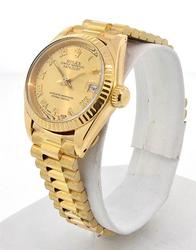 Ladies 18K Rolex President Watch