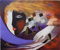 Original Signed Acrylic by Arbe Berberyan