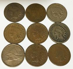 9 Better Early Small Cents  Flting Eagle and Indians