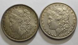 1880 and 1898 Morgan Dollars