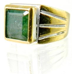 Elegant 22kt Gold Emerald Ring