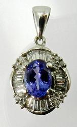 Beautiful 14kt Gold Tanzanite & Diamond Pendant