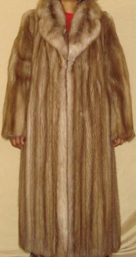 neiman marcus top quality stone marten sable fur coat. Black Bedroom Furniture Sets. Home Design Ideas