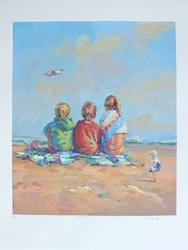 Signed Limited Edition Serigraph On Paper Summer's End