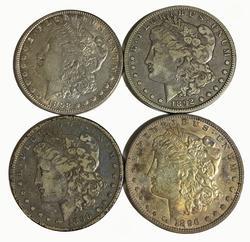1892 O 1896 P & S  and1898 Morgan Silver Dollars