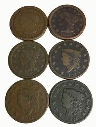 1819 1831 1833 1845 1847 and 1851 Large Cents