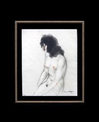 STUNNING LOUIS ICART HAND COLORED GRAVURE ETCHING