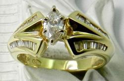 Tasteful Marquise Diamond Ring