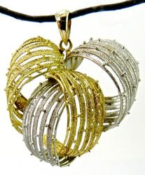 Beautifully Textured Italian 18K Brooch/Pendant