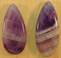 Really cool 37.69ct Amethyst pair
