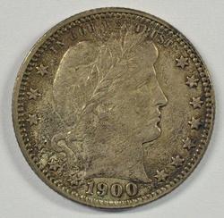 Original Nearly Unc. 1900-P Barber Quarter