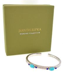 Judith Ripka Cuff Bracelet with Turquoise in Sterling