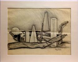 Adolf Benca Original Collectible Pencil Drawing On Paper