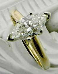 Large marquise engagement ring