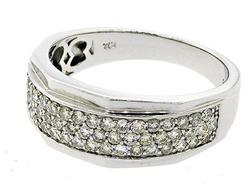 Certified Gents Pave Diamond Band