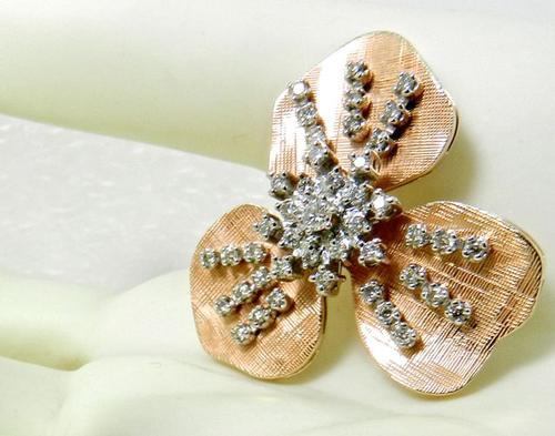 Unique rose gold & diamond pendant