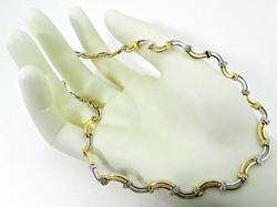 White & yellow gold diamond necklace
