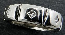 Man's band with princess cut accents
