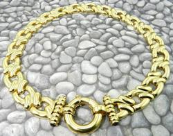 Solid 14kt Gold Necklace Crafted in Italy