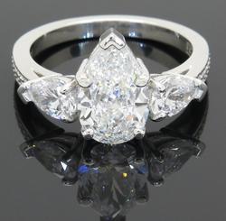 VS Clarity Stunning Quality 3+ctw Diamond Ring