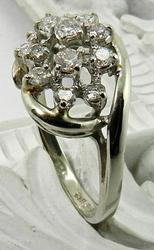 Sparkling white gold diamond cluster
