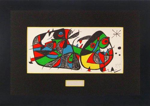 BRILLIANT LIMITED EDITION LITHO BY JOAN MIRO