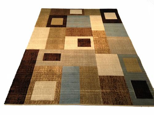 Decorative Contemporary Design Carved Area Rug 8x11