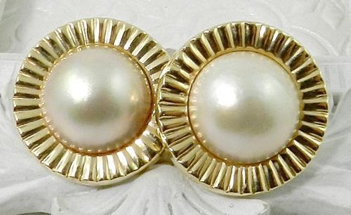 Delightful mobe pearl earrings