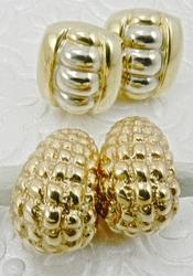 Set of 2 14kt Yellow Gold Pair of Earrings