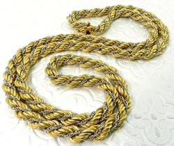 Heavy 18kt Two Tone Gold Necklace